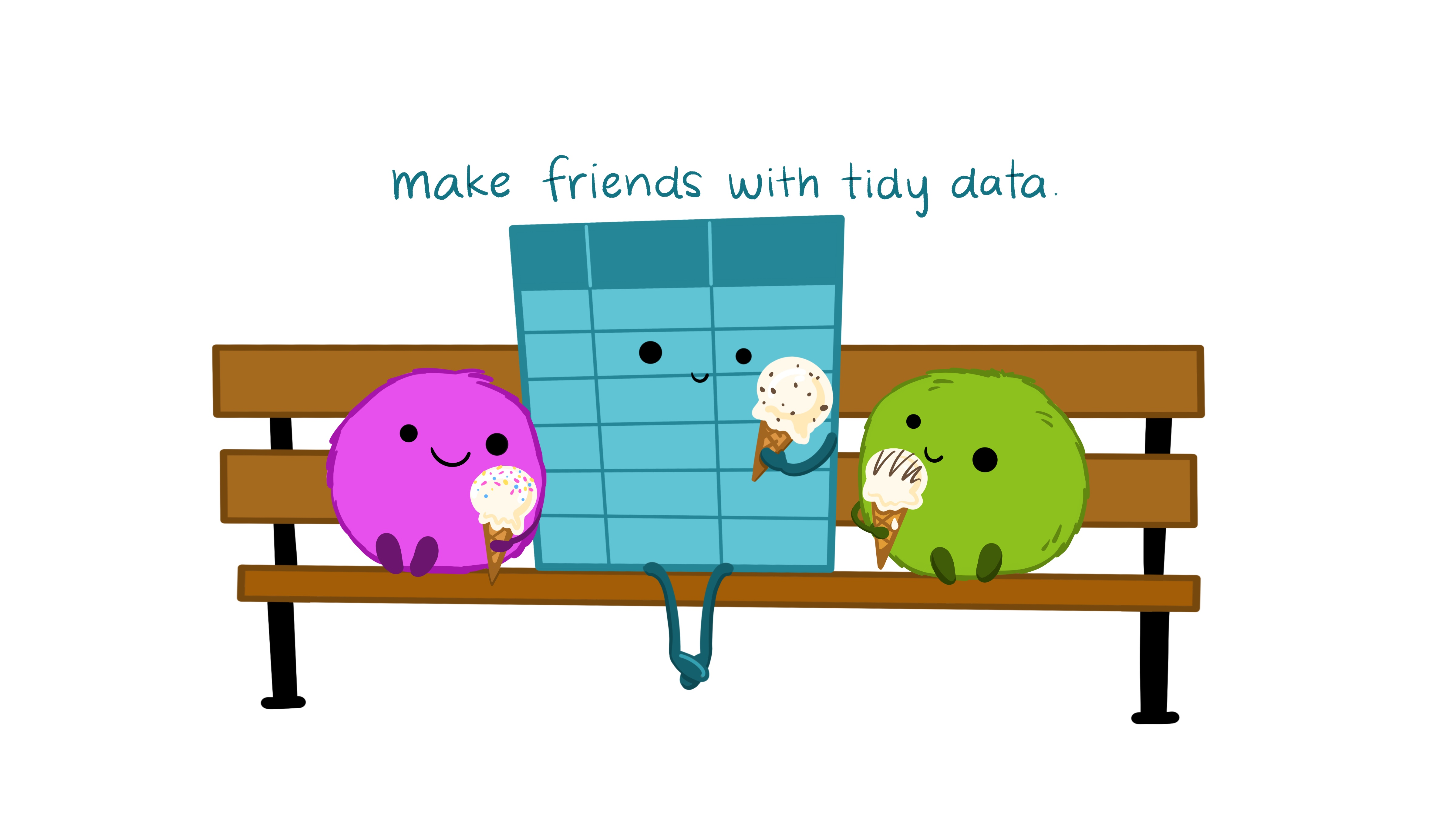 Illustrations from the [Openscapes](https://www.openscapes.org/) blog [*Tidy Data for reproducibility, efficiency, and collaboration*](https://www.openscapes.org/blog/2020/10/12/tidy-data/) by Julia Lowndes and Allison Horst