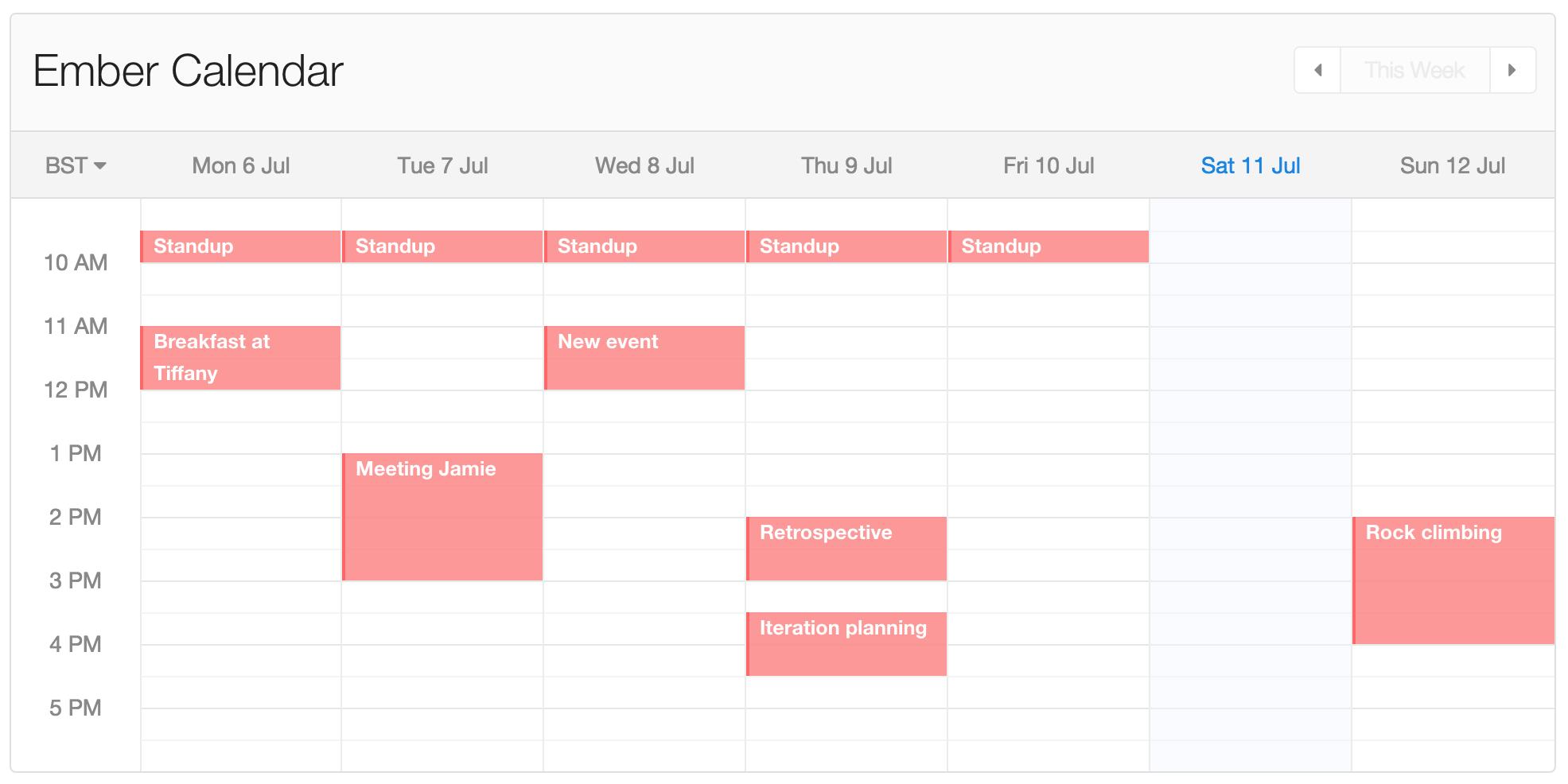 Calendar in action