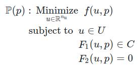 standard parametric optimziation problem