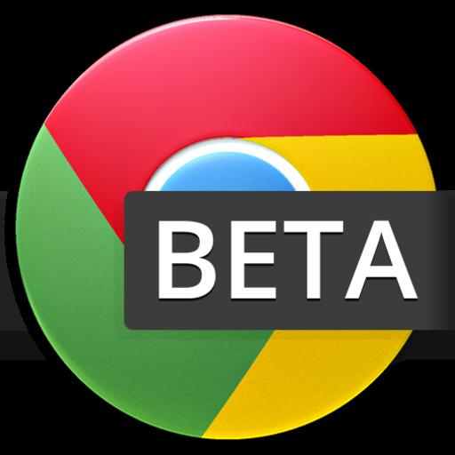 Chrome Beta v25-36 for Android browser logo