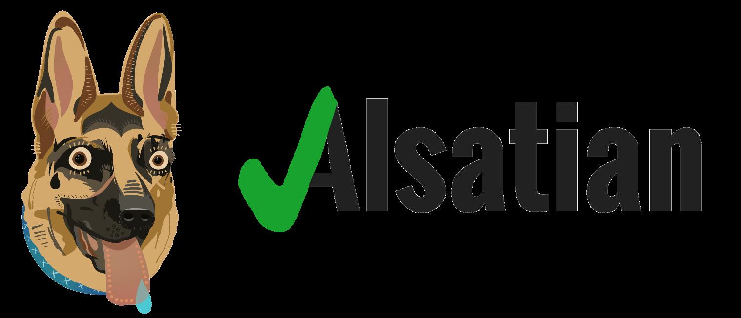 Alsatian Mascot Logo
