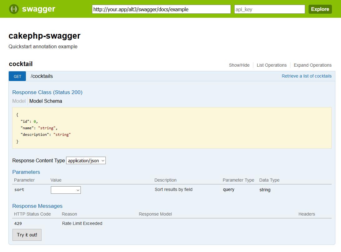 UI Quickstart Example
