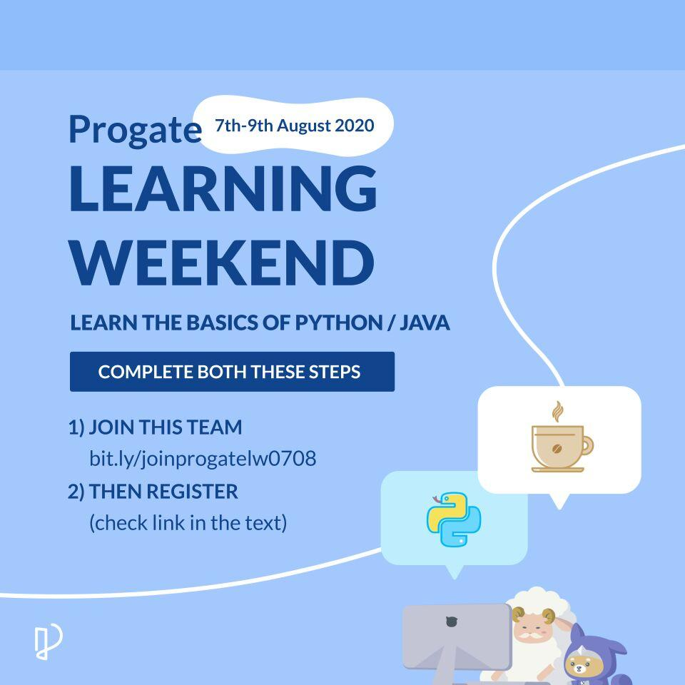 Get free access of Python and Java during Learning Weekend from 7th to 9th Augus