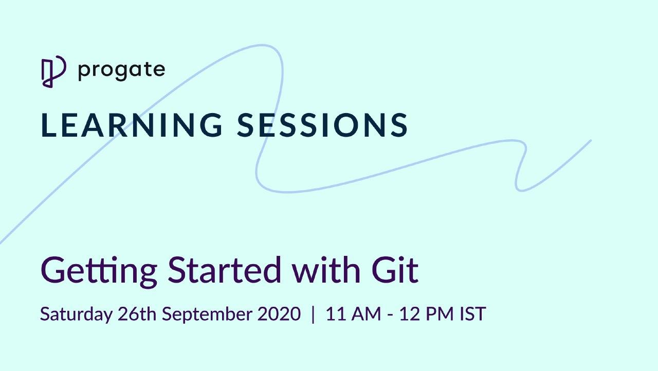 Learning Session on Getting Started With Git on 26 Sep 2020
