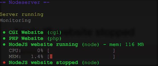 nodeserver status