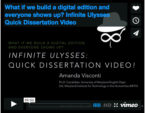 3-minute video explaining the Infinite Ulysses project