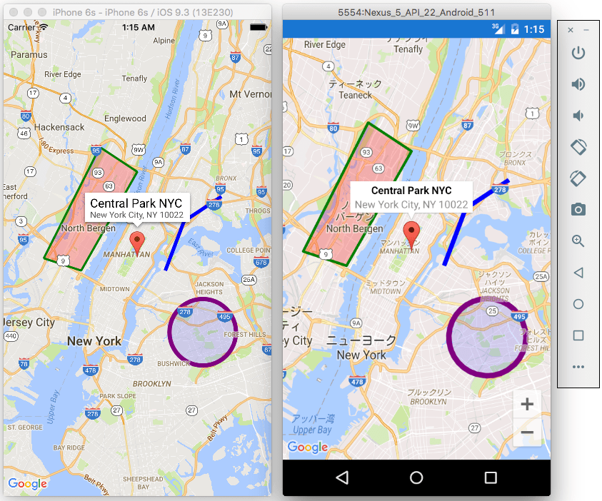 Xamarin Forms GoogleMaps by amay077