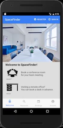 Spacefinder Mobile app