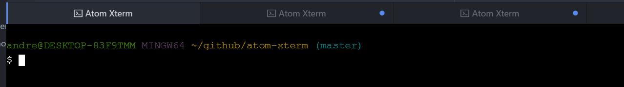 Atom Xterm activity notification