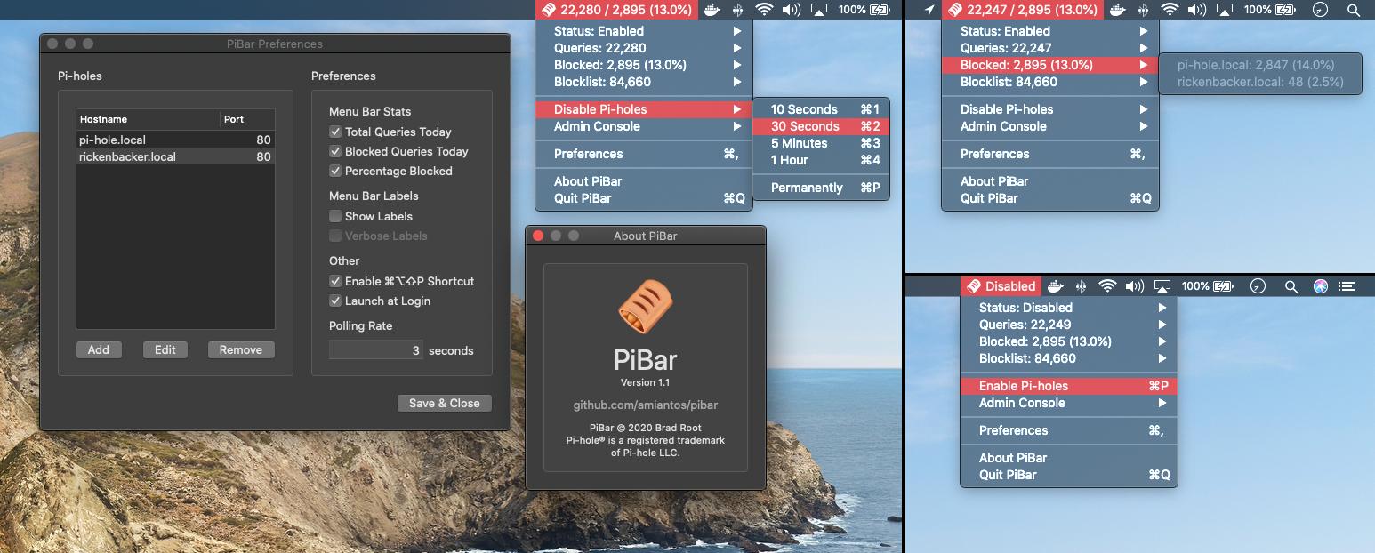 PiBar Screenshots