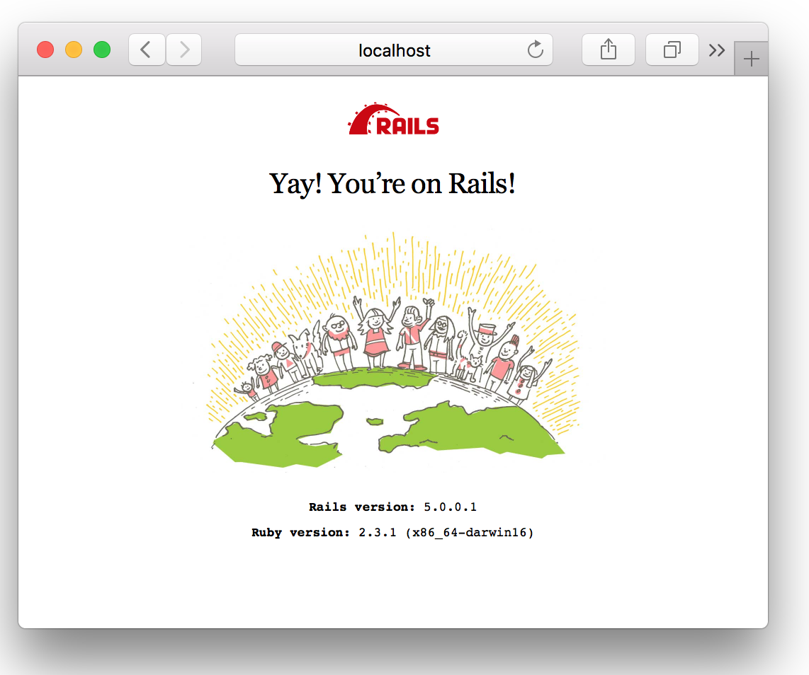 Yay you're on Rails!