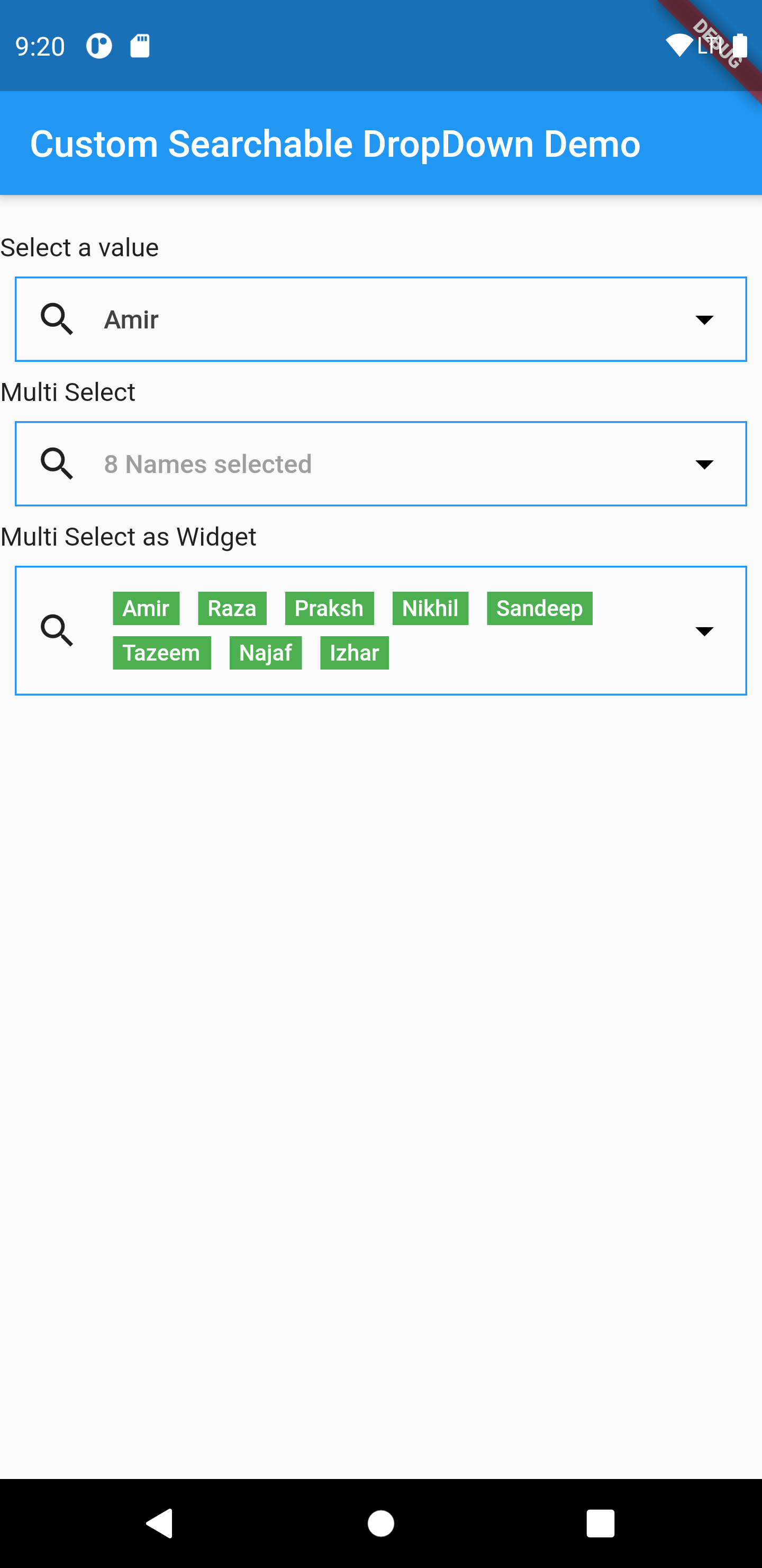 MultiSelect DropDown