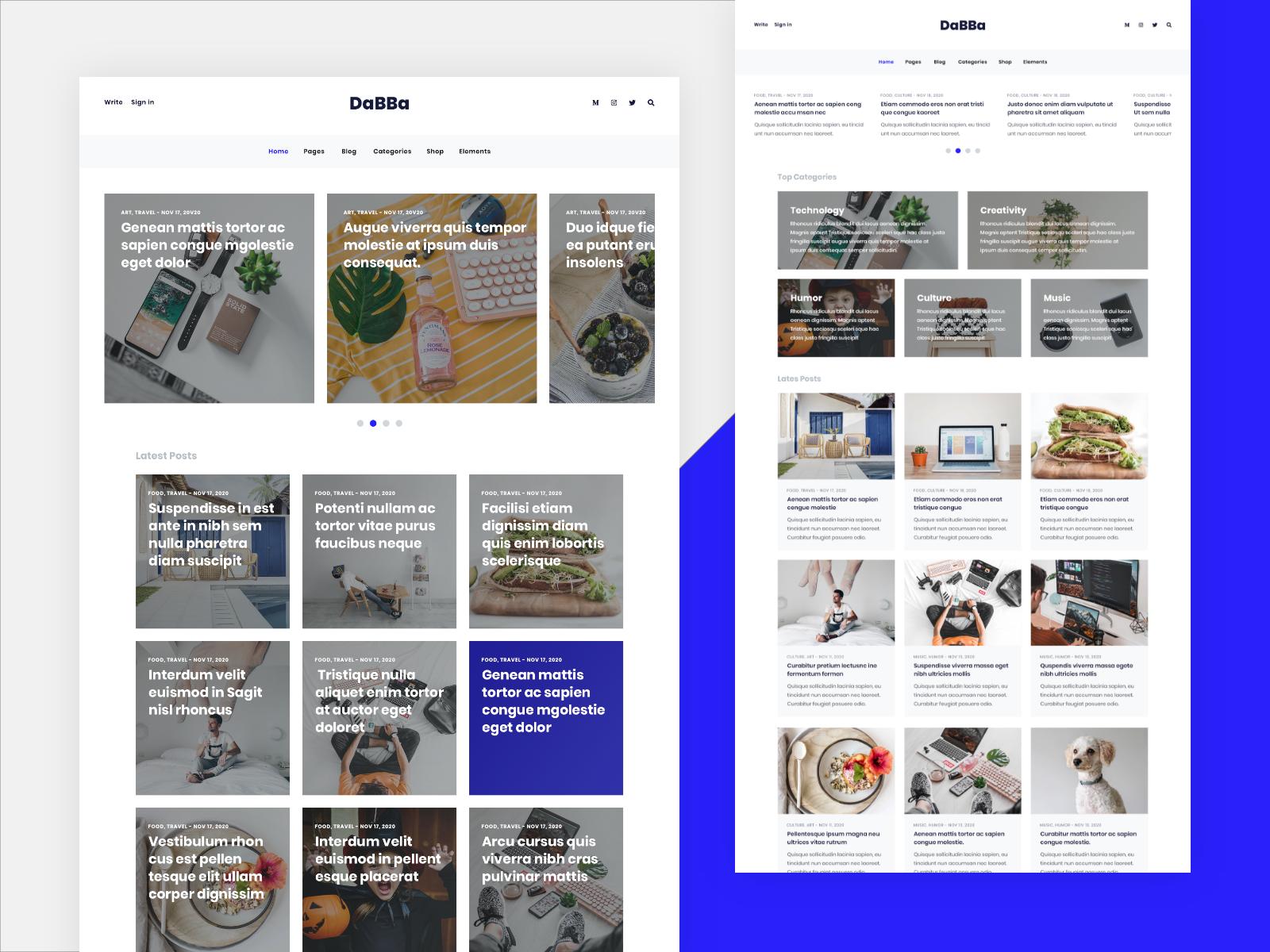 Dabba WordPress Theme For Blog & Shop