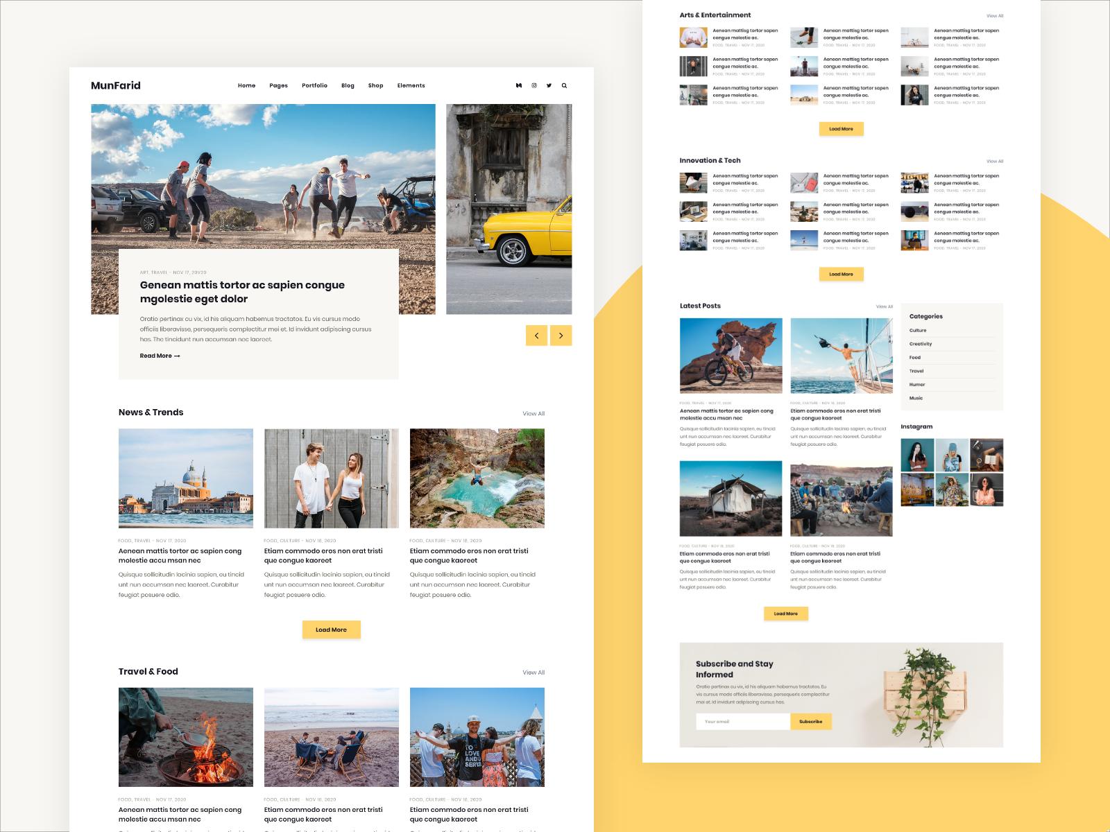 Munfarid WordPress Theme For Blog & Shop
