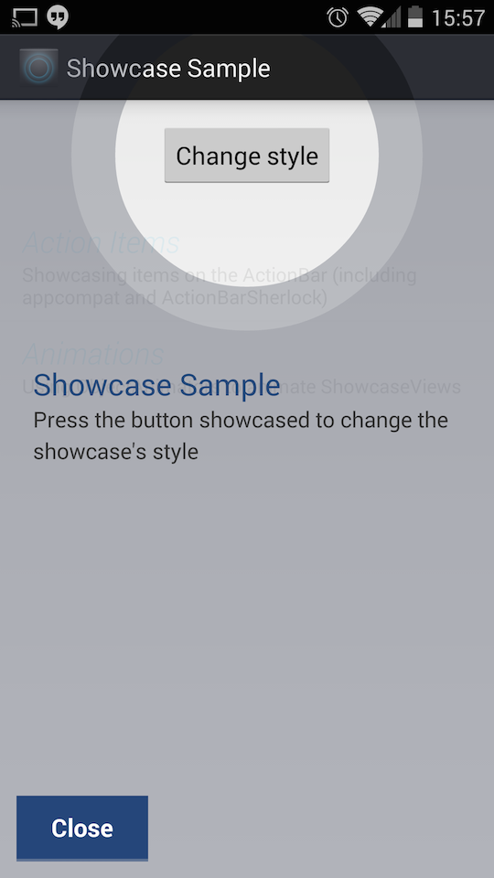 new style showcaseview