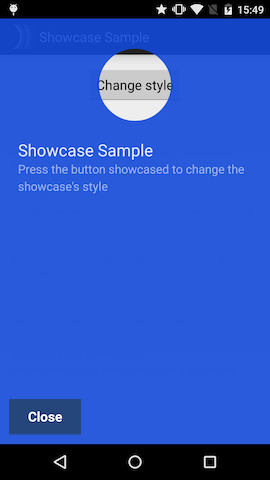 Material style showcaseview