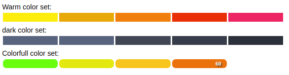 3 react progress bar with chanks and splits and color for each treshold