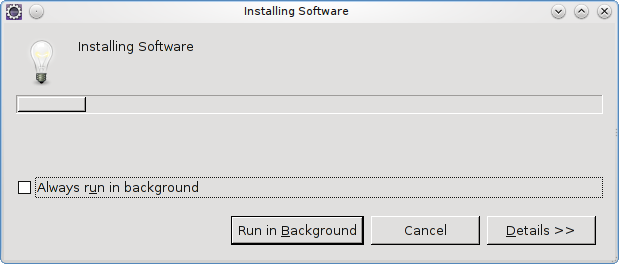 Eclipse installing software
