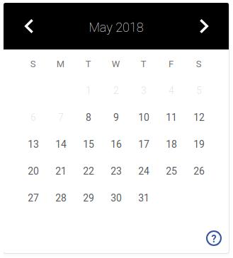 static single date picker