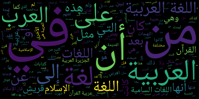 Arabic wordlcloud