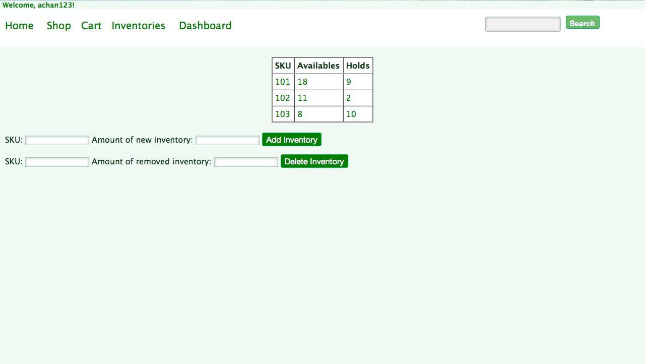 Admin Inventory