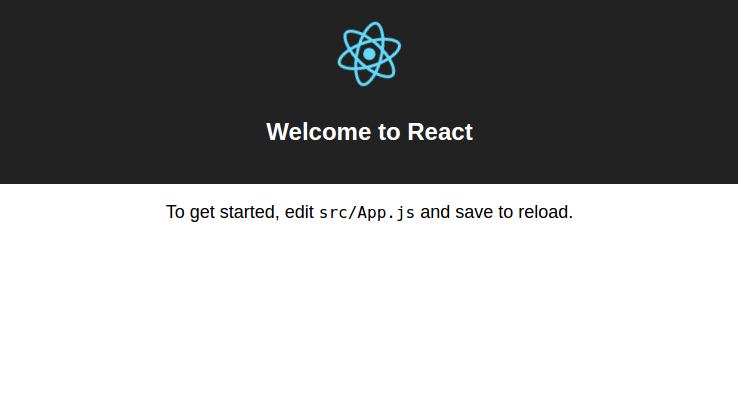 create-react-app default page