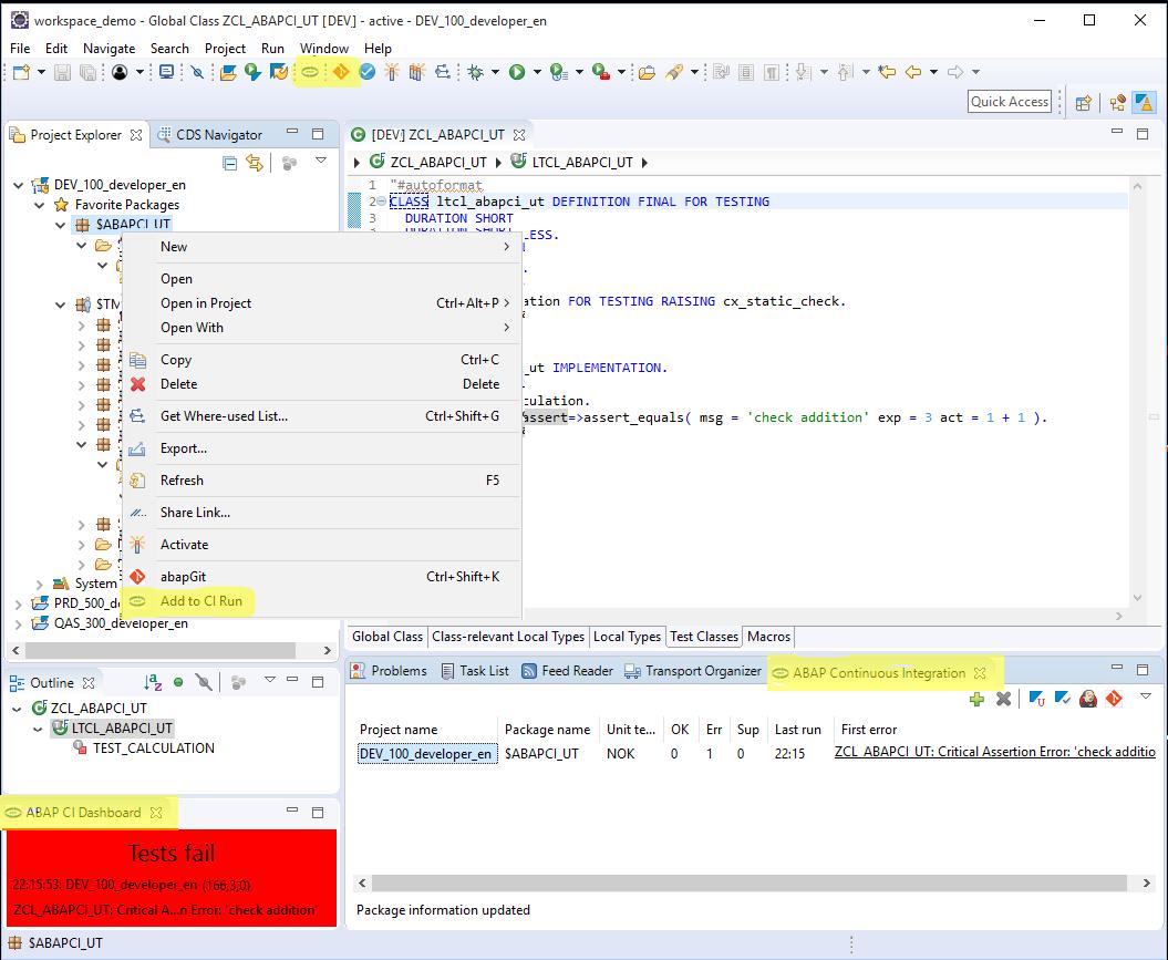 abapCi Screenshot