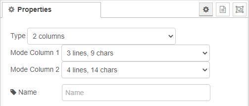 2 column mode properties