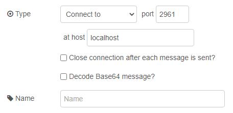 TCP node propertiers