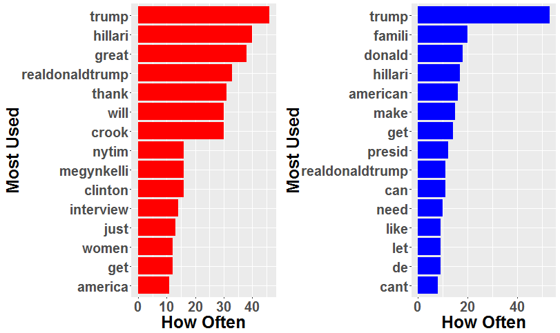 Analyzing the US election using Twitter and Meta-Data in R