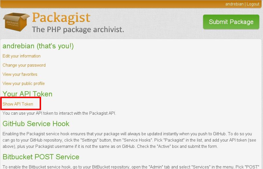 Show API Token