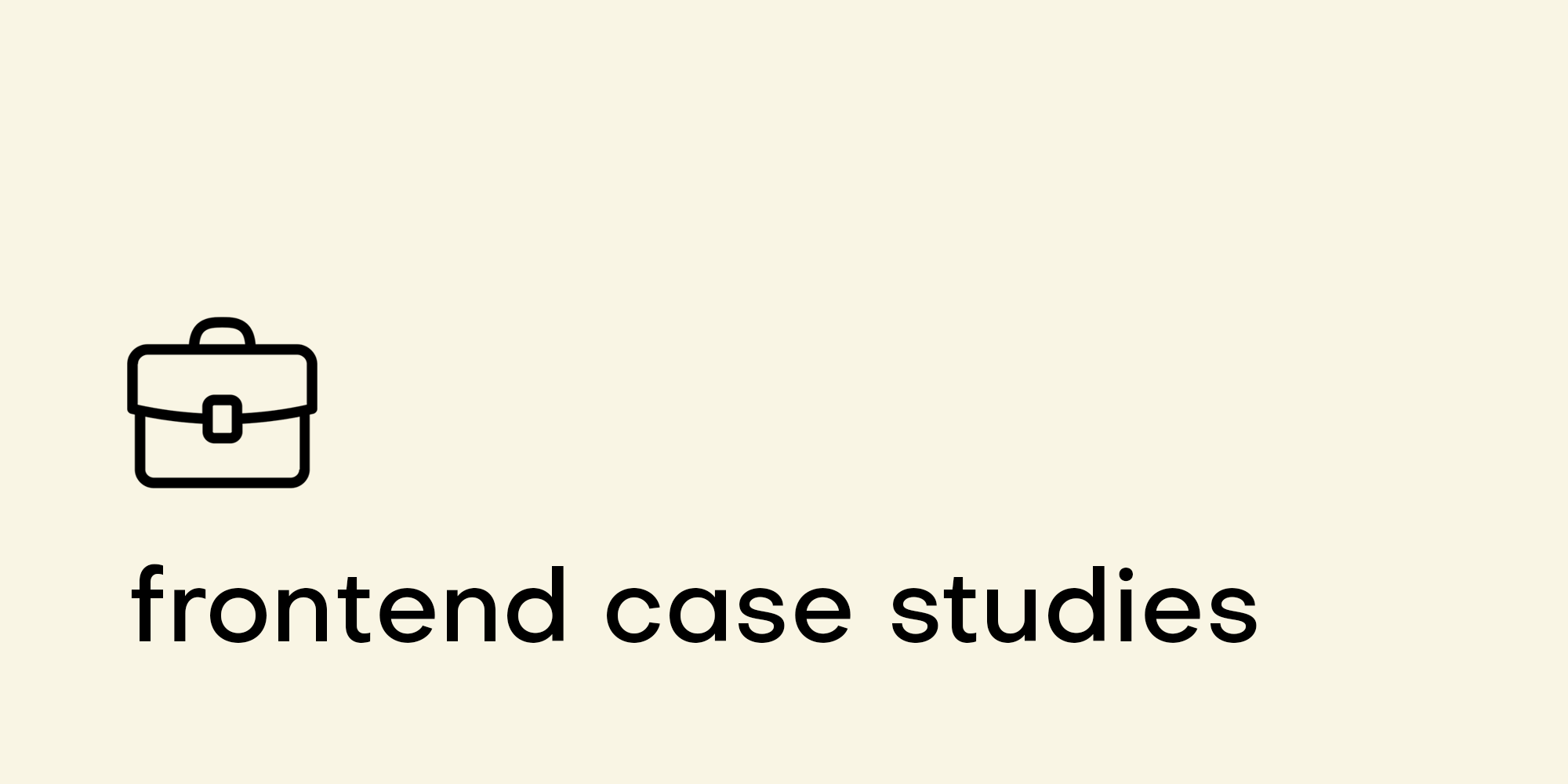 Frontend case studies logo