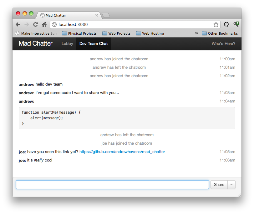 Mad Chatter screenshot