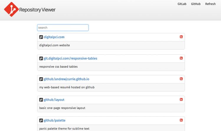 GitList Repository Viewer Screenshot