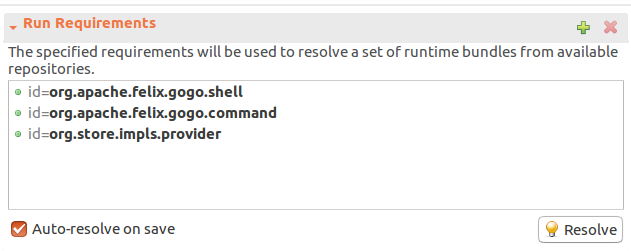 OSGi run requirements
