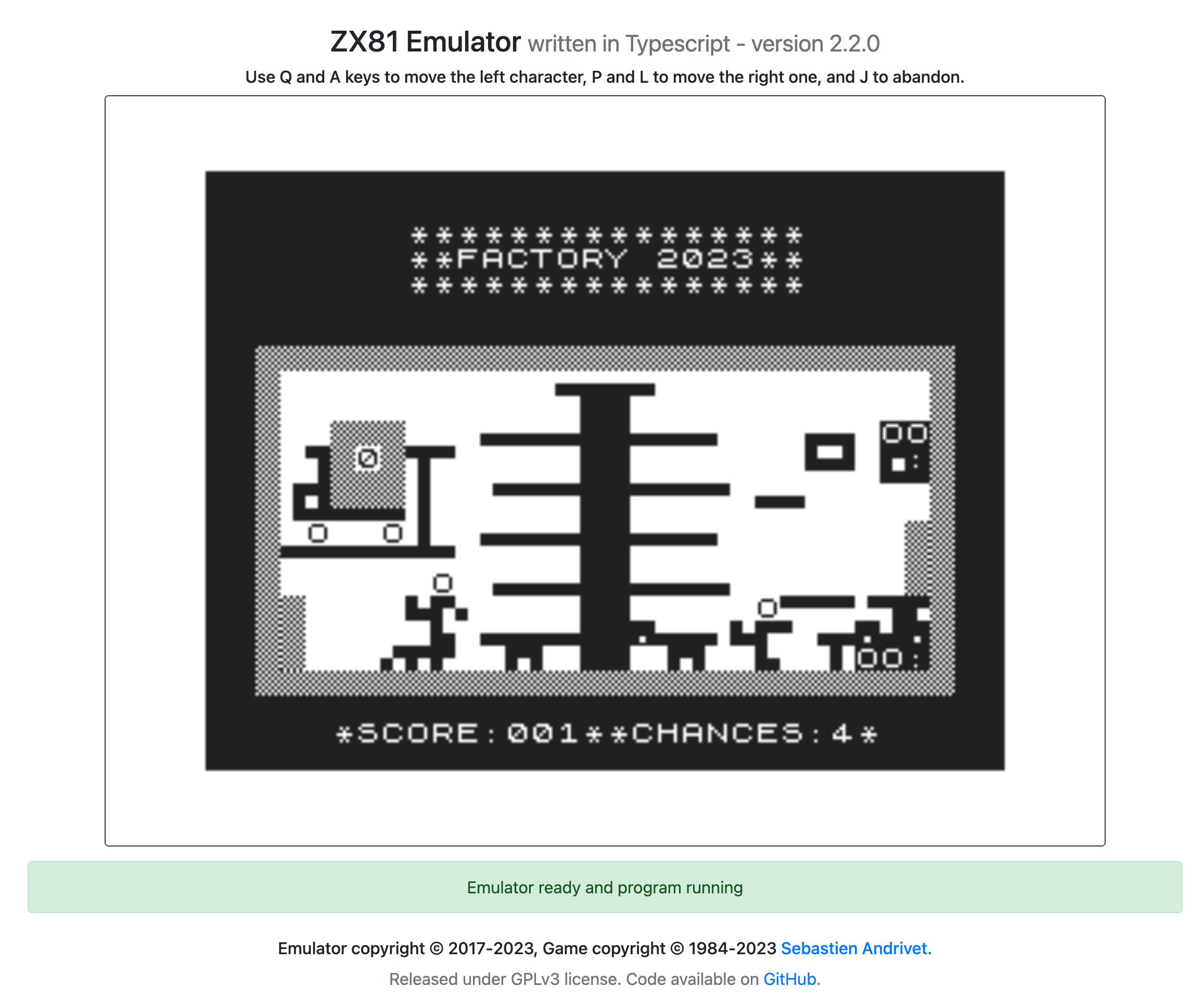 EmuCR: ZX81