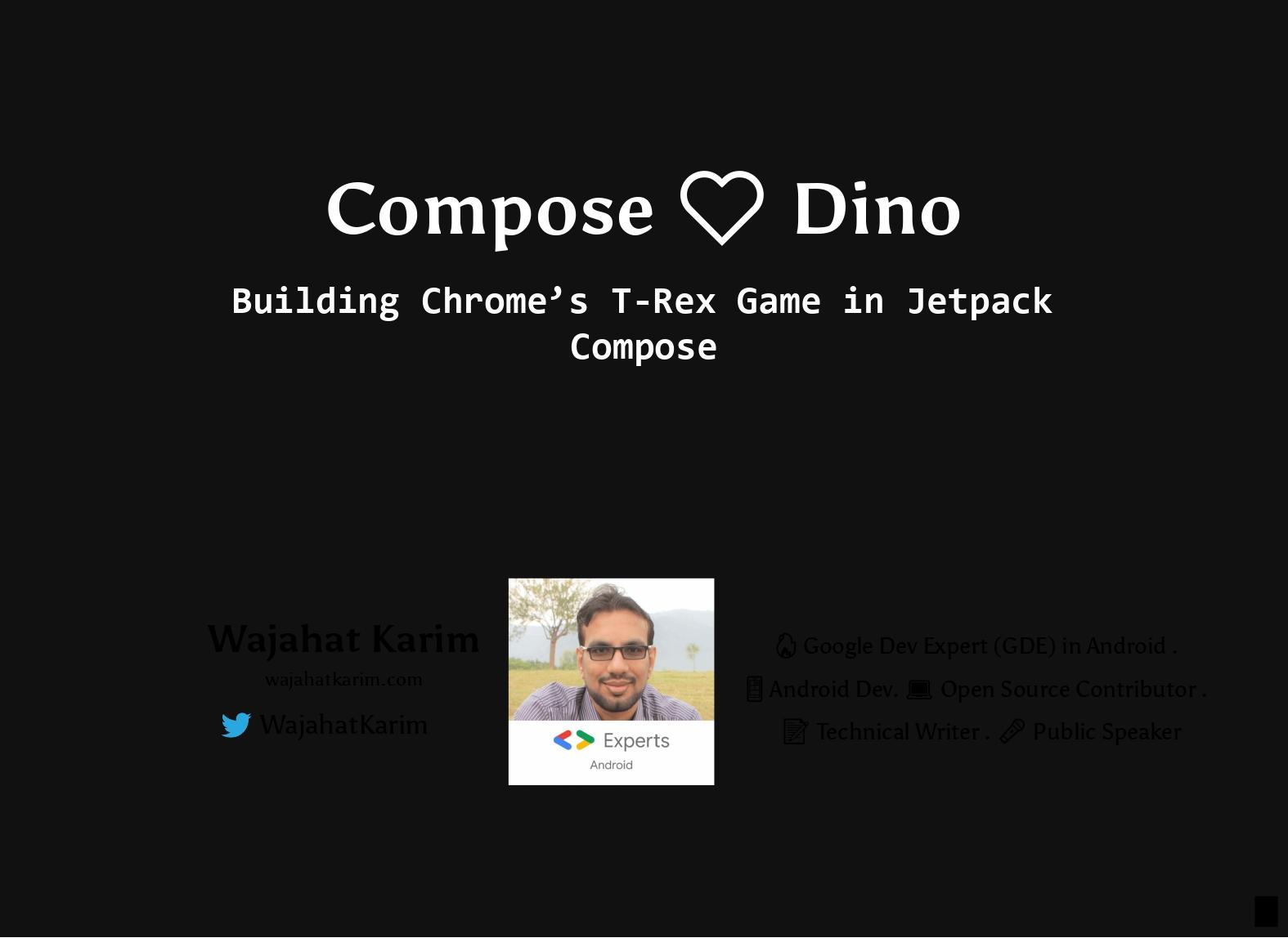 Compose ❤️ Dino: Building Chrome's T-Rex Game in Jetpack Compose - Kotlin Mumba