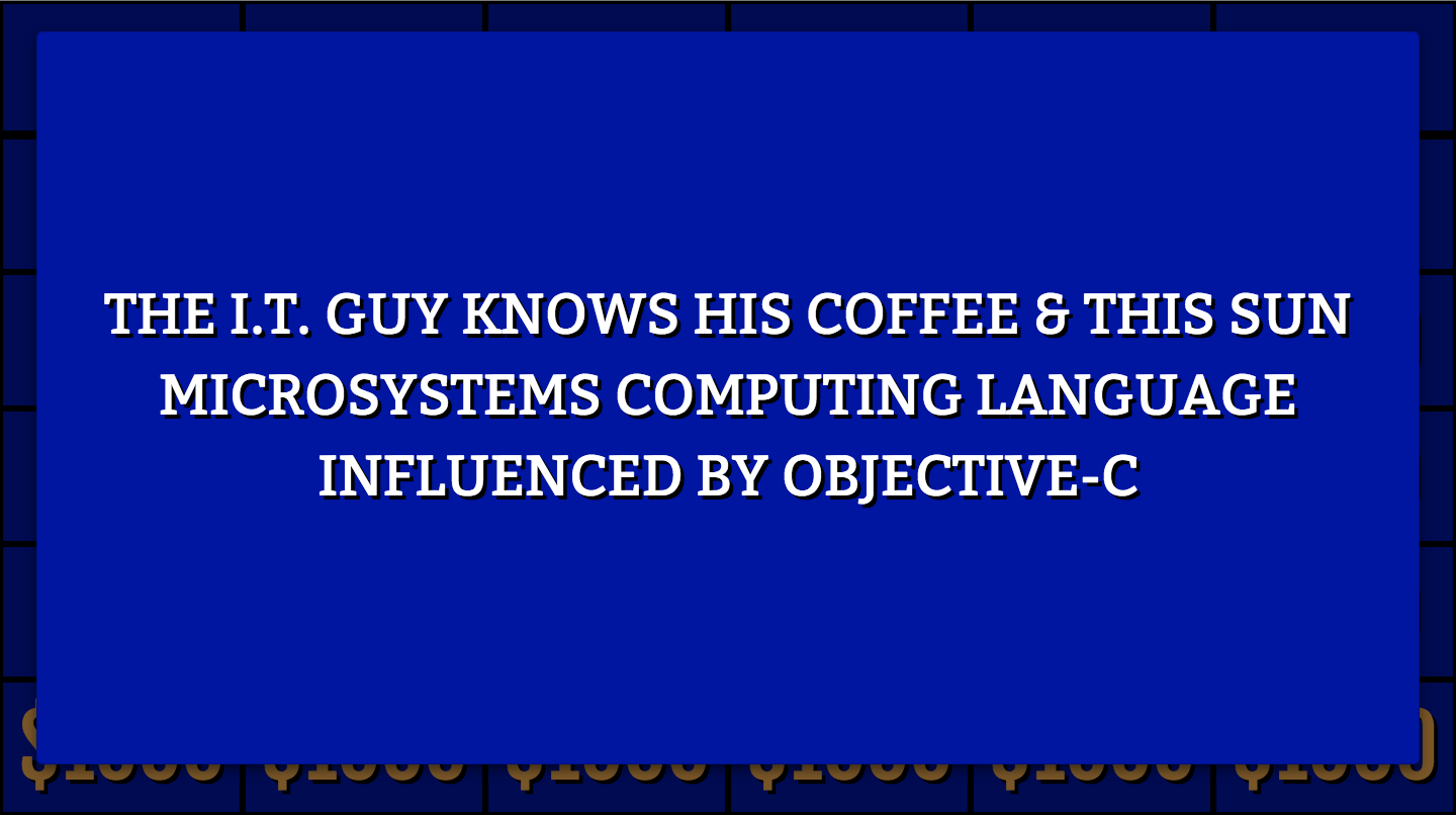 Jeopardy! A single question
