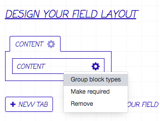 group block types button