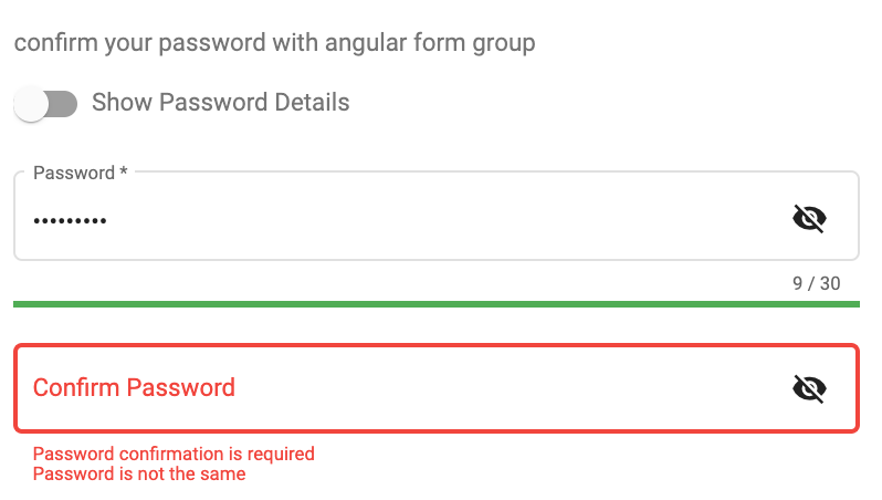 @angular-material-extensions/password-strength with confirmation feature