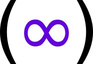 logo -- purple infinity sign inside of parens