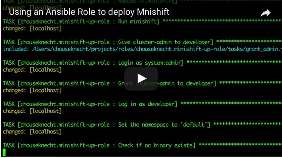 Creating an OpenShift instance