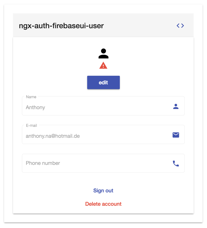 ngx-auth-firebaseui user profile component