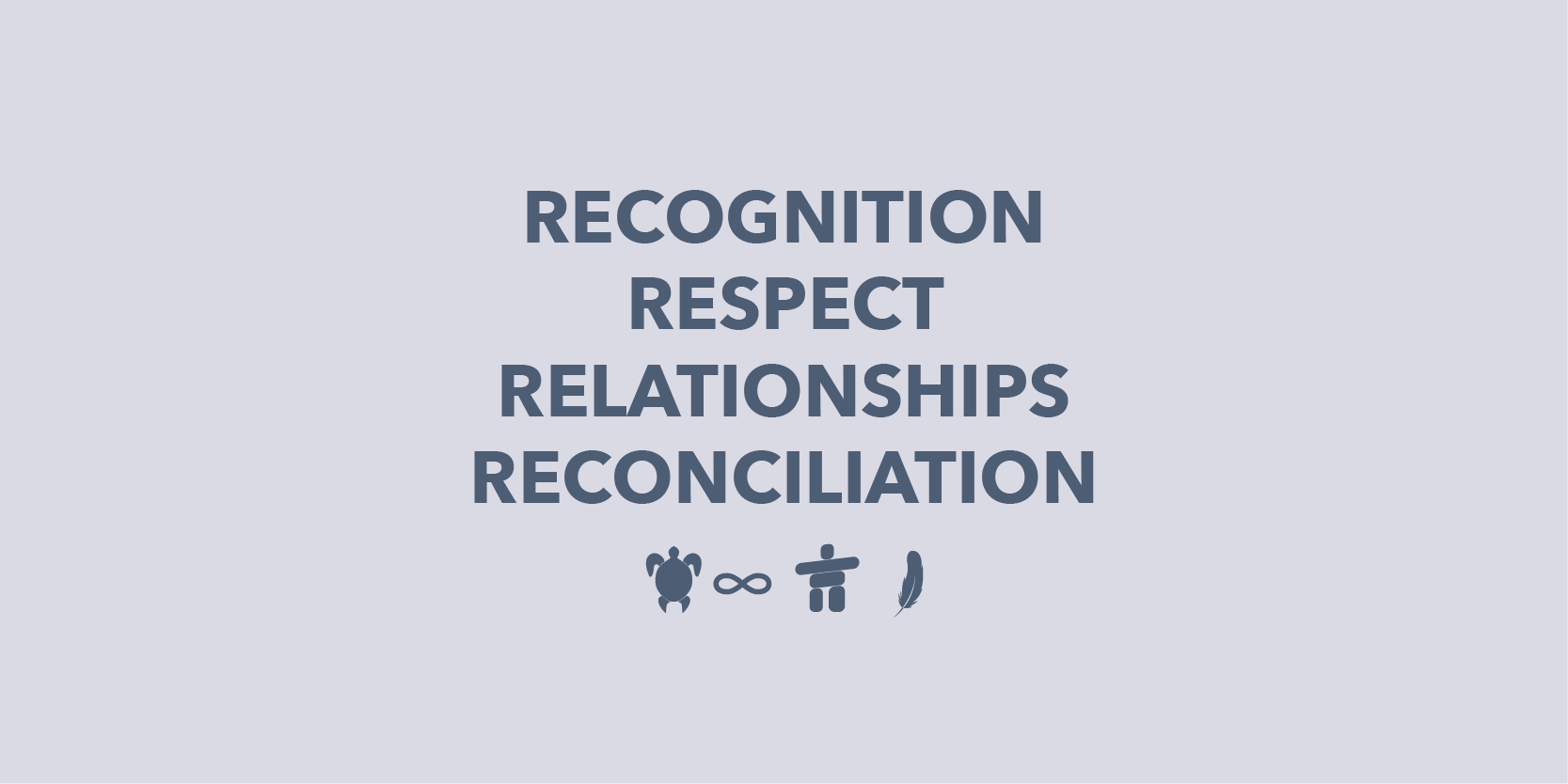 recognition, respect, relationships, reconciliation