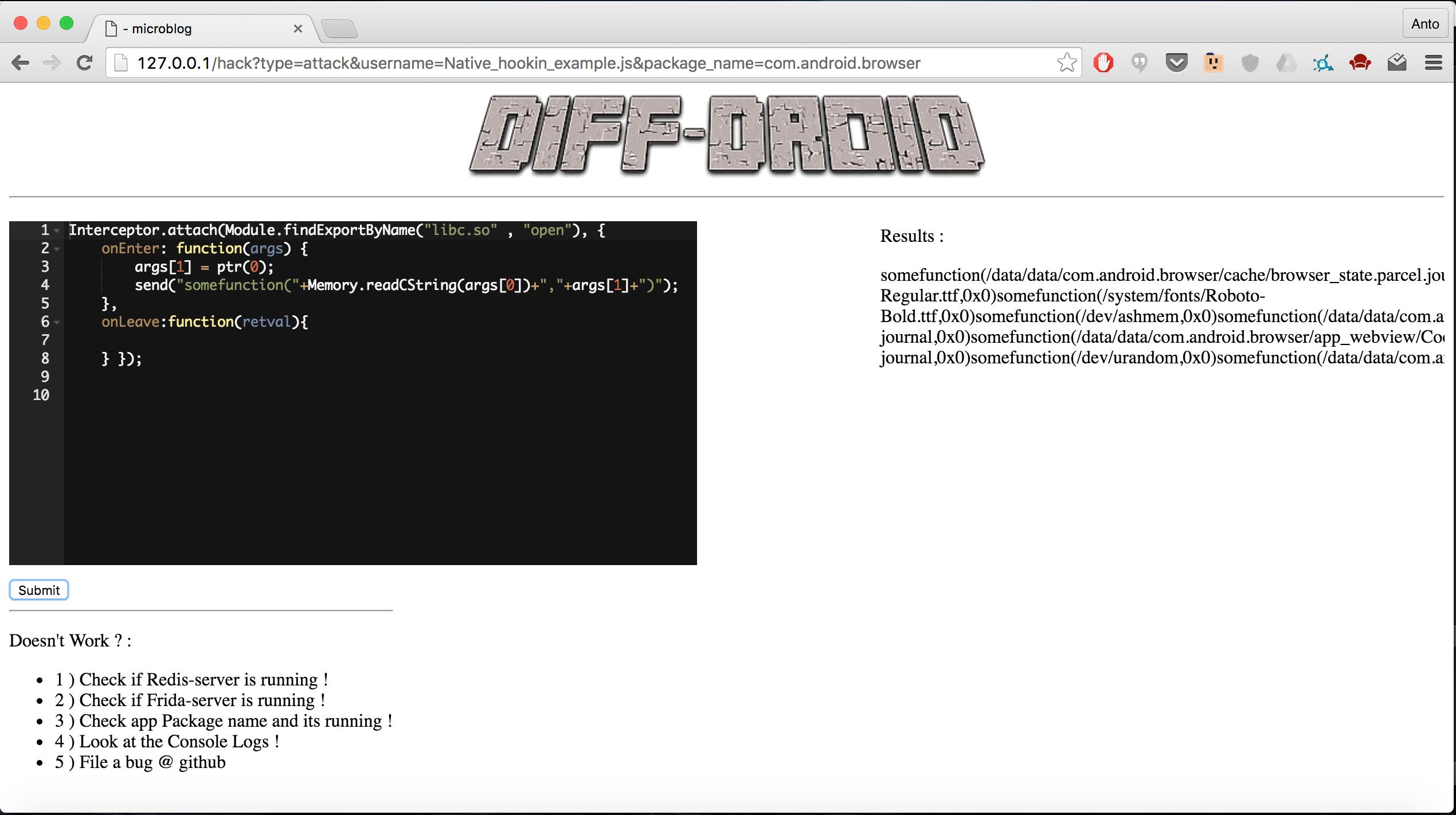 GitHub - antojoseph/diff-gui: GUI for Frida -Scripts