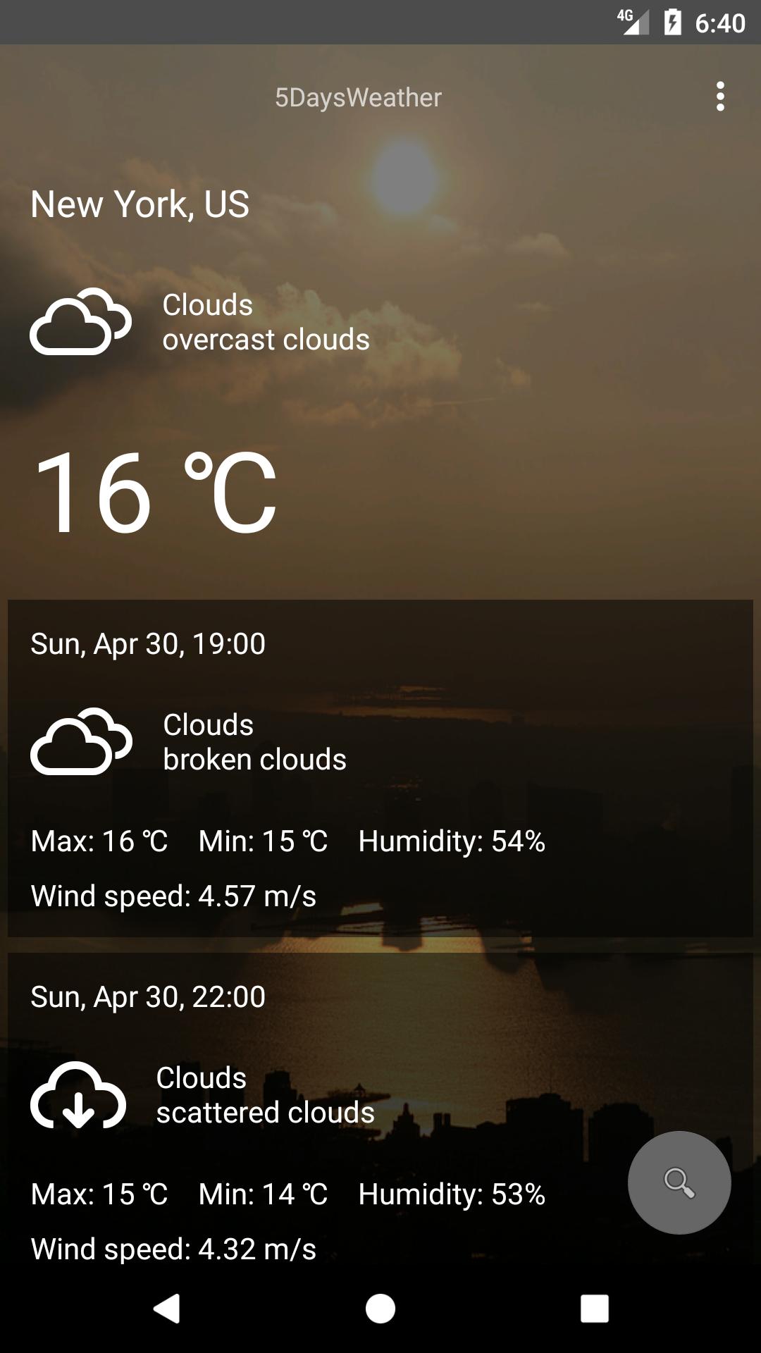Github Antoninovitale 5daysweather App That Shows The Weather