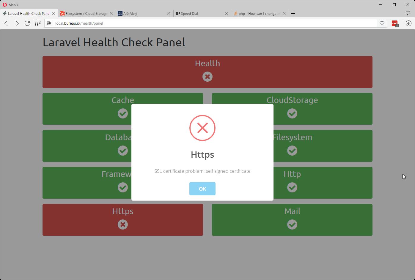 default panel