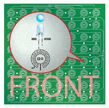 Плата Button Pad 8х8 PCB