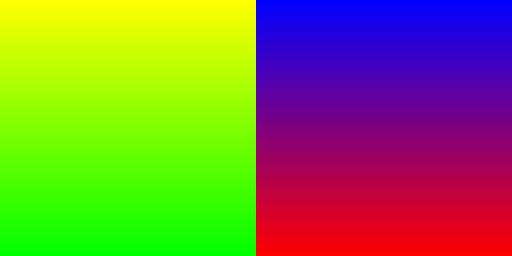 Красно-синий и желто-зеленый