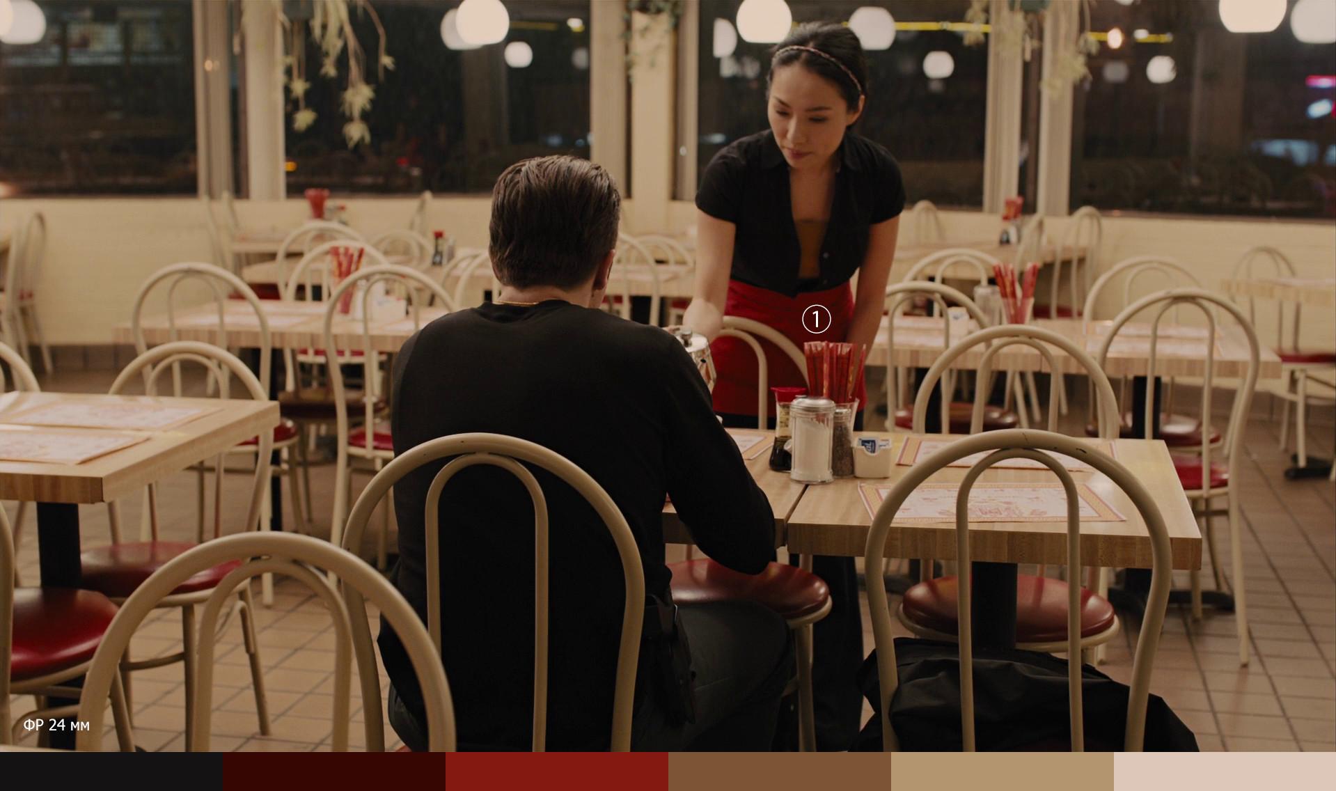 Сцена с официанткой